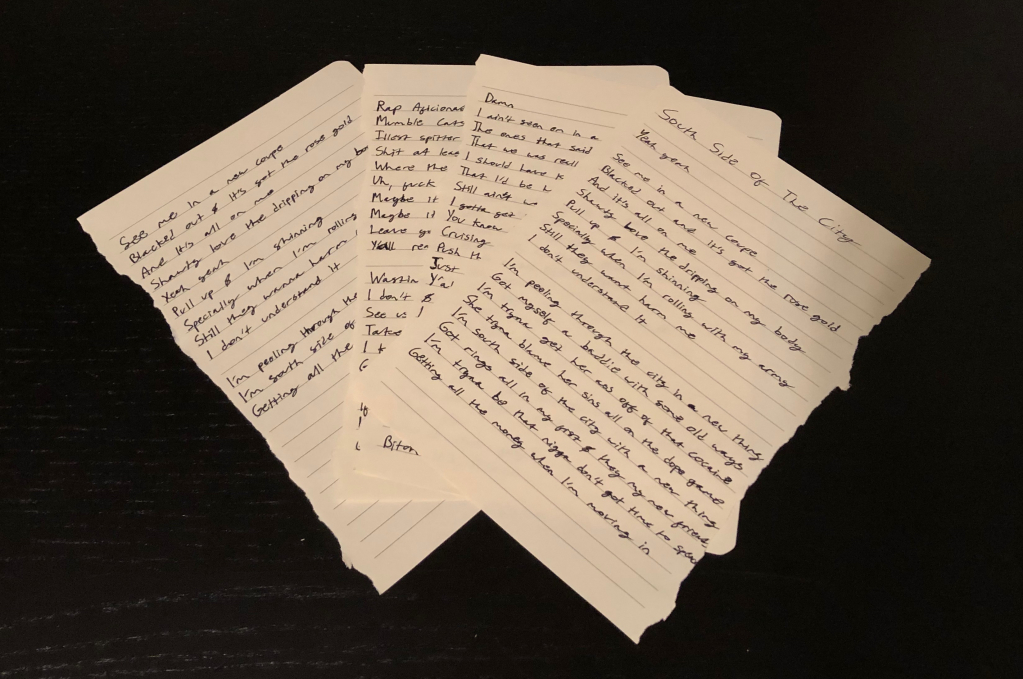 Thumbnail of: THE ORIGINAL LYRIC SHEETS FOR SOUTH SIDE OF THE CITY!