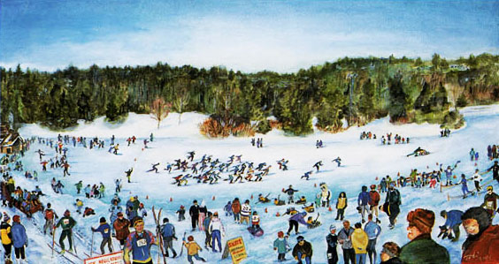 Thumbnail of: Silver Skate Festival  Print by Toti  (Numbered Print) - UNFRAMED