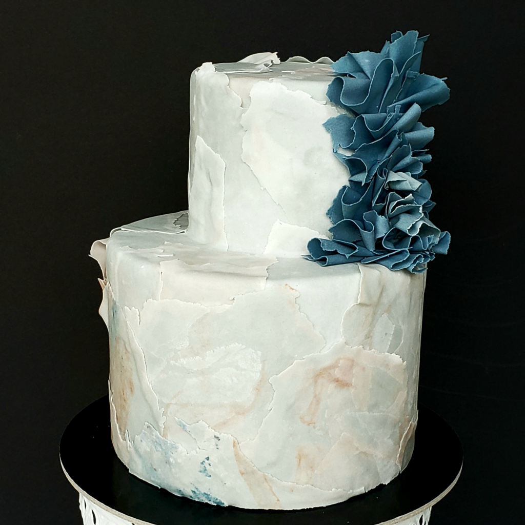 Thumbnail of: 2-tier Torn Fondant Class - Feb.6 2020
