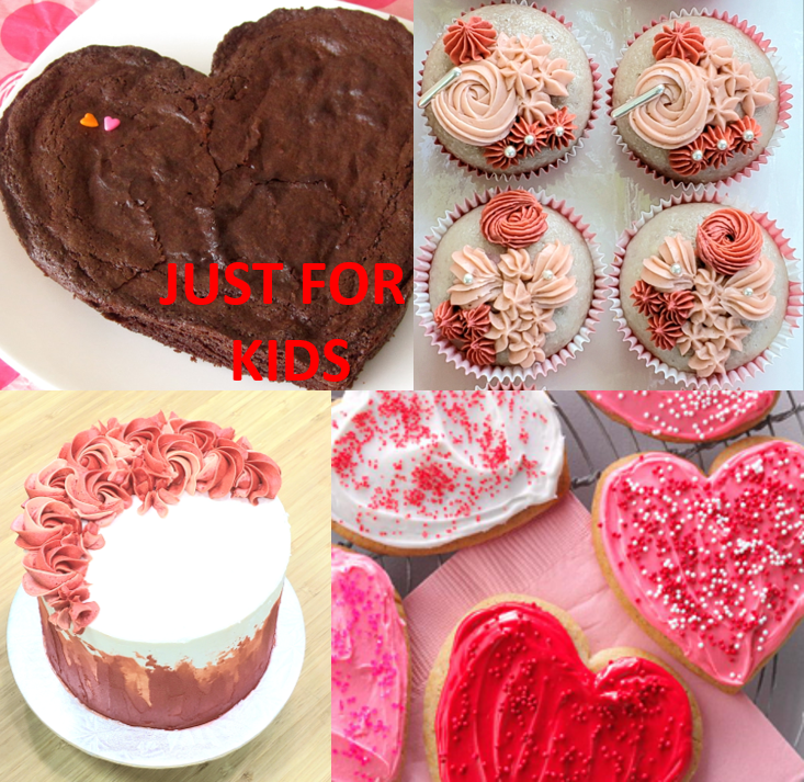 Thumbnail of: KIDS Heart Brownie Cake – Feb.14