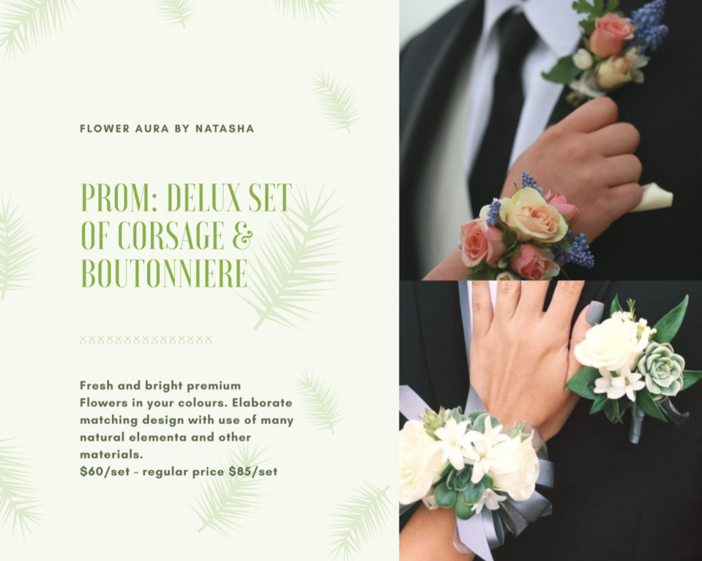 Thumbnail of: Prom: Corsage + boutonniere!  Delux package Sale for $60 - regular price $85