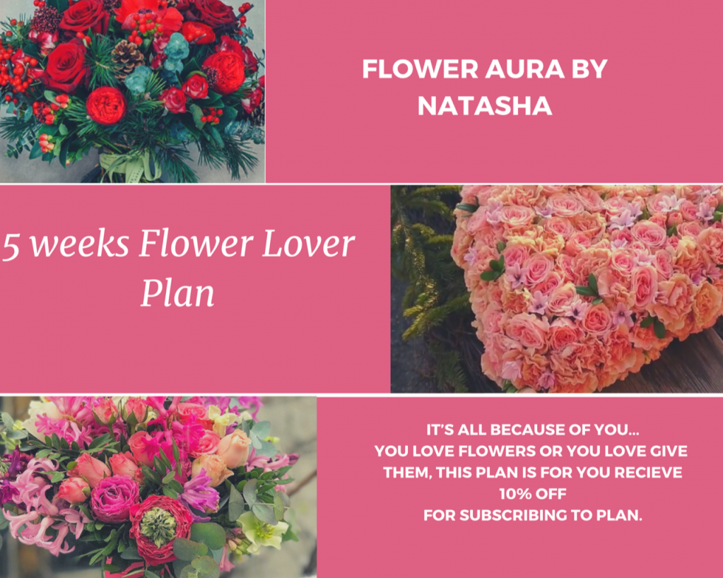 Thumbnail of: 5 weeks flower lover program - 10% off  for 5 of $50 arrangements - $225 only for $250 value