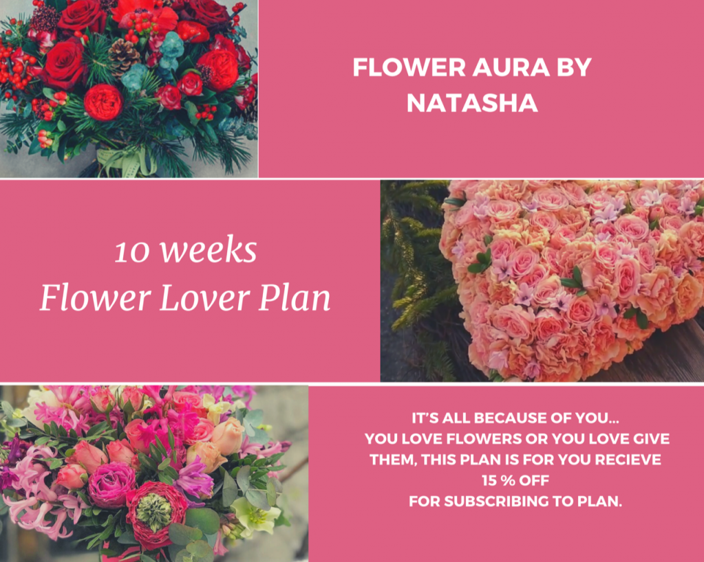 Thumbnail of: 10 week flower lover program - 15% off for 10 of $50 arrangements - $425 for value of $500
