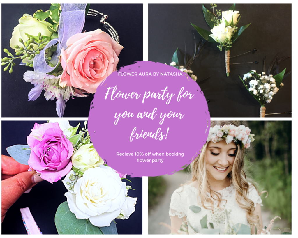 Thumbnail of: Flower party - 10% off for any party 4 or more people
