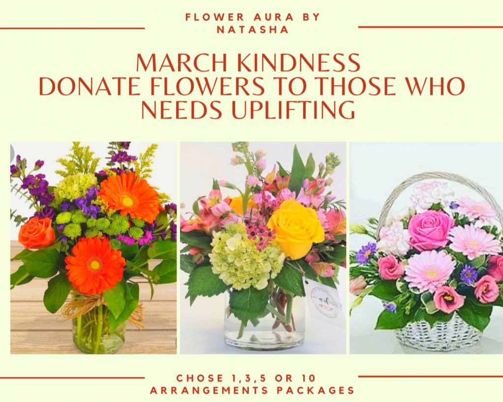 Thumbnail of: March Kindness - Donate flowers to those who need uplifting