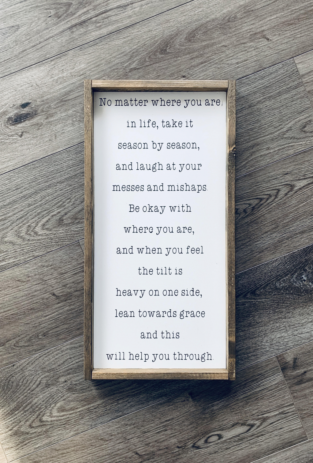 Thumbnail of: Beautiful handpainted wood sign from Dress Your Mess Decor
