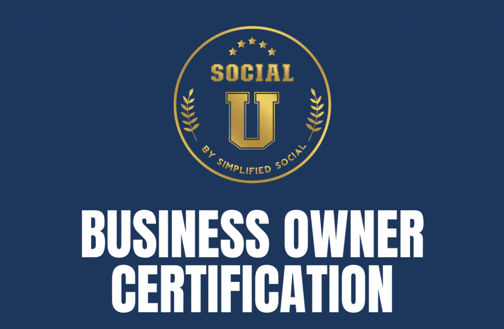Thumbnail of: SocialU Certification: Business Owner *PRE-SALE PROMOTION*