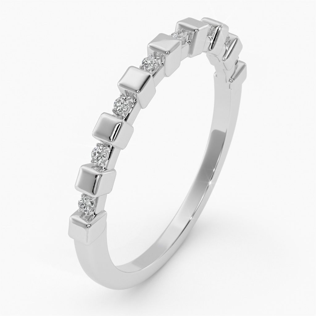 Thumbnail of: STERLING SILVER AND WHITE SAPPHIRE RING
