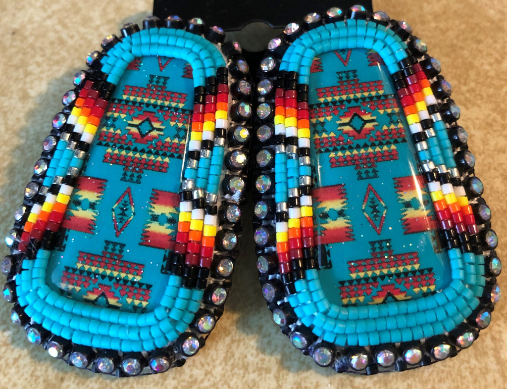 Thumbnail of: BEADED EARRINGS MADE WITH  DELICA  BEADS BEAUTIFUL COLORS