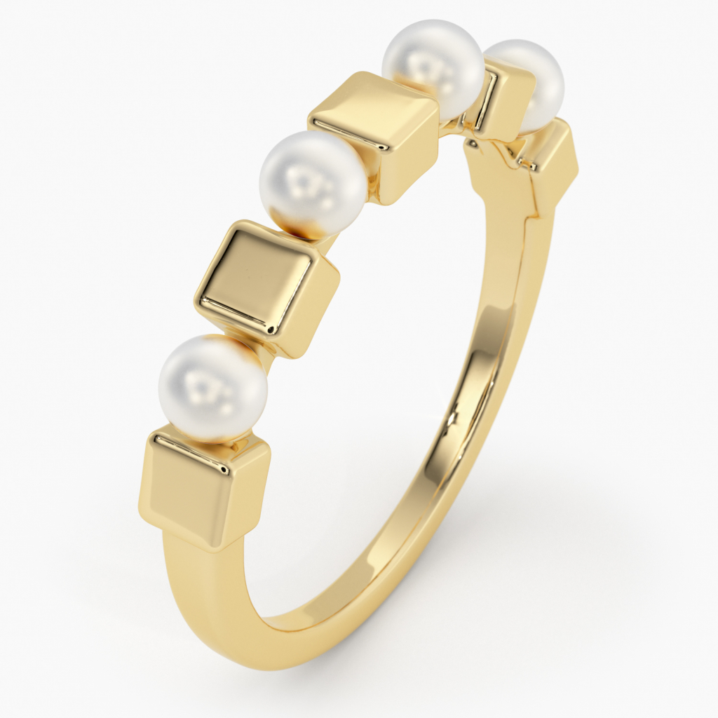 Thumbnail of: 14K GOLD AND PEARL RING