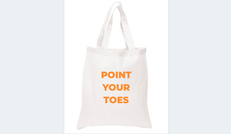 """Thumbnail of: """"Point Your Toes"""" Tote Bag"""