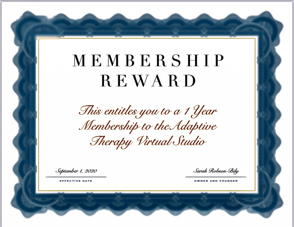 Thumbnail of: 1 Year membership to Online Adaptive Yoga and Fitness Therapy Studio
