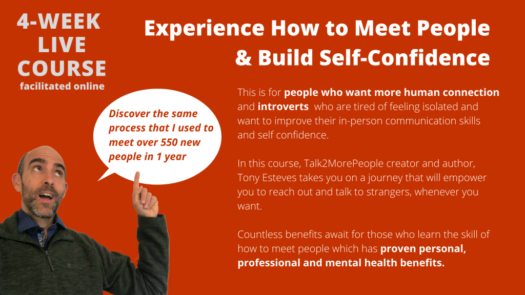 Thumbnail of: How to Meet People & Build Self Confidence  Virtual (Beta) Course