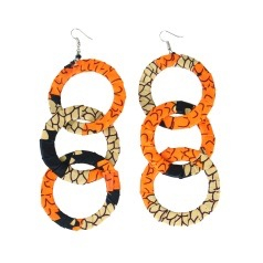 Thumbnail of: Kitenge Hoop Earrings