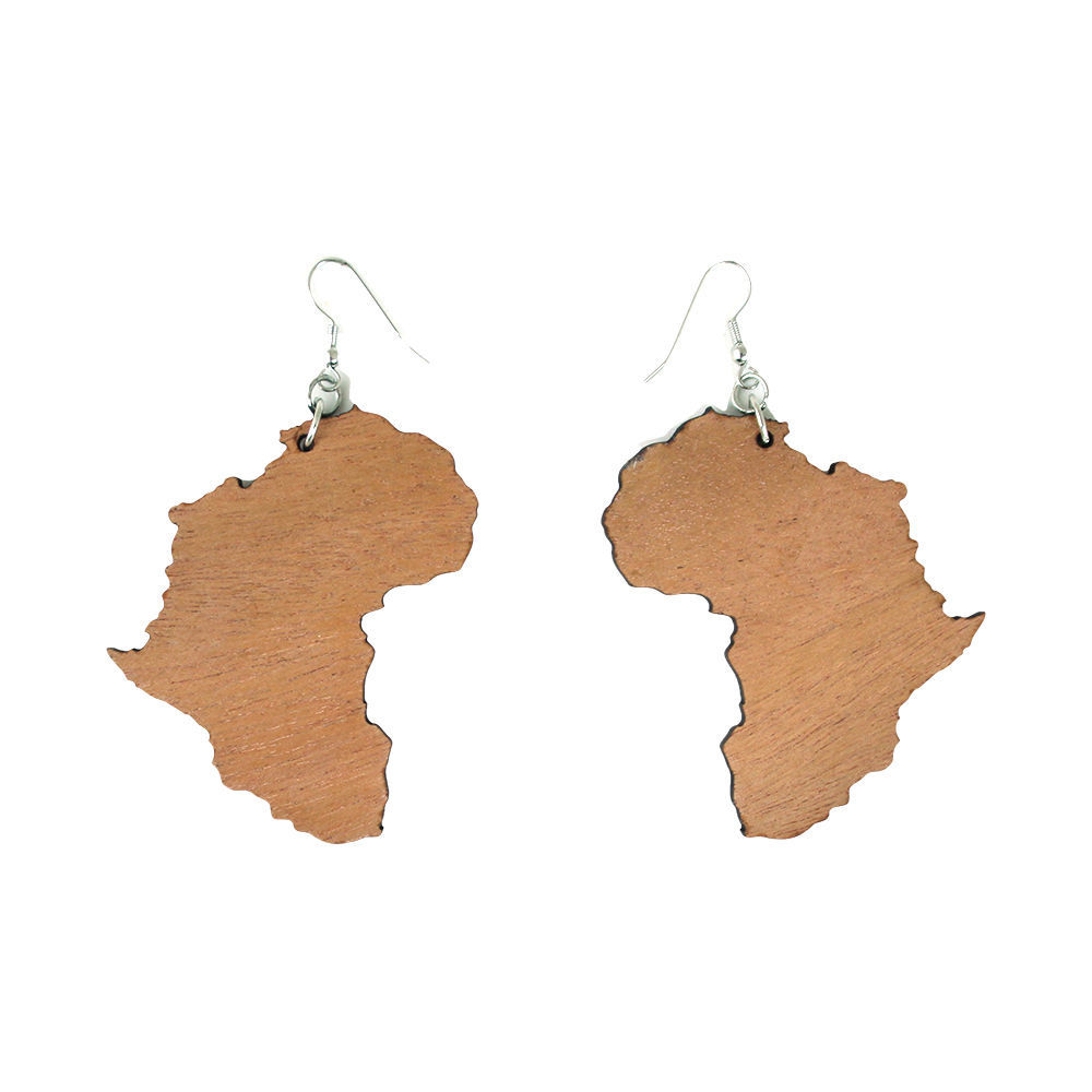 Thumbnail of: Africa Map Earrings #2