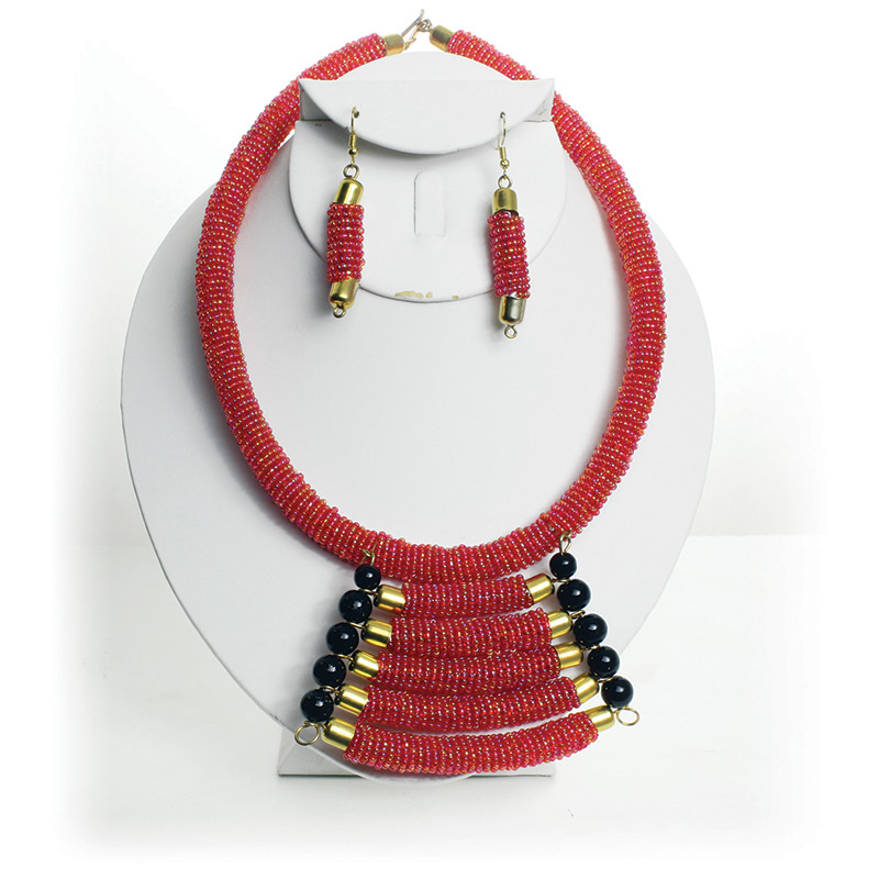 Thumbnail of: Maasai Beaded Choker and Earring set