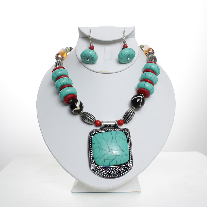 Thumbnail of: Turquoise Pendant Set