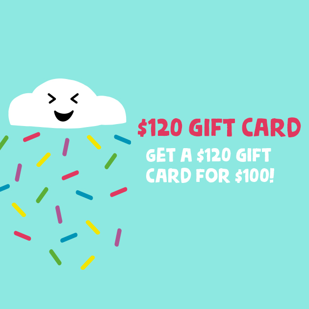 Thumbnail of: Gift Card Deluxe $120 for $100 (must pick up reward)